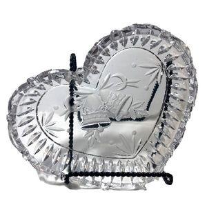 Heart shaped crystal candy/trinkets dish